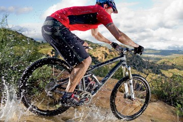 mountain bikes