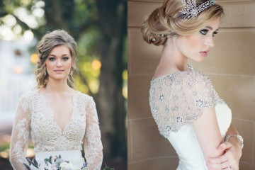 Vintage Combination -Wedding Dresses and Hair Styles